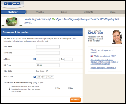 Geico Online Quote Awesome Geico Online Quote Simple Geico Quote Interface Jeff Walter Design